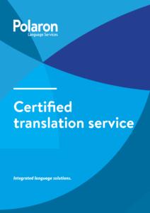 Download Certified translation service