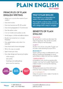 Download Plain English Fact Sheet