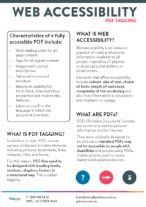 Download Web accessibility fact sheet